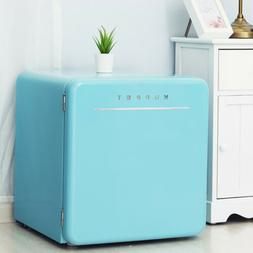 1.6 Cu Ft Mini Retro Fridge Compact Refrigerator Freezer w/