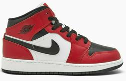 Air Jordan 1 Chicago Black Toe Mid Retro GS Red White 554725