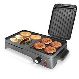 2-in-1 Hot Plate Electric Griddle - 1500W Plug-in Nonstick C