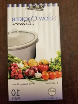 """Kitchen Collection 10 Clear Crock pot Slow Cooker Liners 14"""""""