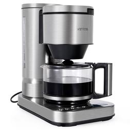 BESTEK 10 Cup Drip Coffee Maker in Stainless Steel, Programm