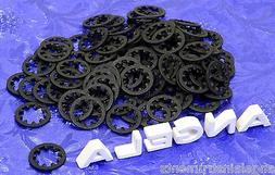 100 CTS Black Internally Toothed Lock Washers For Guitar & A