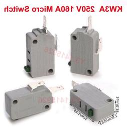 10Pcs KW3A 250V 16A Microwave Oven Door/Washing machine/rice