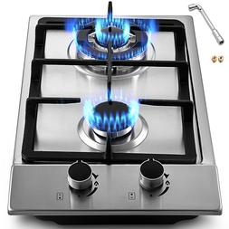 12 2 Burners Gas Cooktop Stainless Steel Easy Installat Elec