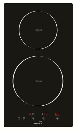 "Empava 12"" Electric Stove Induction Cooktop 2 Burners Blac"