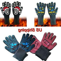 1472°F Silicone Extreme Heat Resistant Cooking Oven Mitt BB