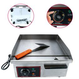 1500W Electric Griddle Kitchen BBQ Grill Countertop Flat Top
