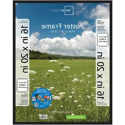 16x20 inch Basic Poster & Picture Frame with Hardware, Black