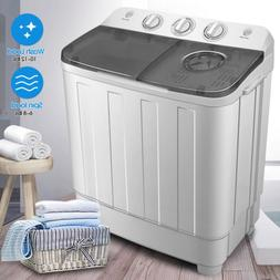 17lbs Portable Washing Machine Compact Mini Twin Tub Laundry