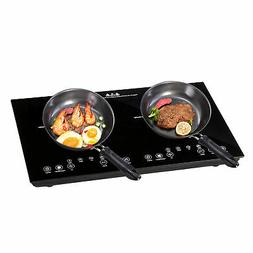 1800W 2 Induction Cooker Countertop Double Burner Cooktop Di