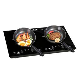1800W Electric Dual Induction Cooker Countertop Double Burne