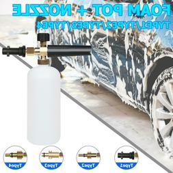 1L Snow Foam Lance Cannon Soap Bottle Sprayer For Pressure W