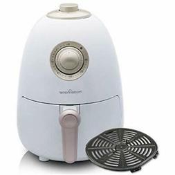 2.1Qt Compact Air Fryer With Full-Color Recipe Book And Dish