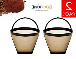 GoldTone Reusable #2 Cone Coffee Filters for Cuisinart Coff