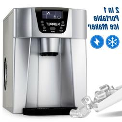 2 in 1 Ice Maker Water Cooler Compact Countertop Ice Cubes M