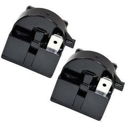 2-Pack HQRP QP2-4R7 4.7 Ohm 3Pin PTC Start Relay for Danby C