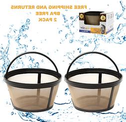 GoldTone Reusable 8-12 Cup Basket Coffee Filters for ALL Mr