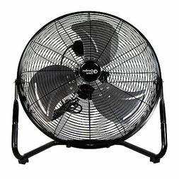 Comfort Zone 20-inch 3-Speed Floor Fan with 360-Degree Adjus