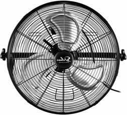 Simple Deluxe 20 Inch High Velocity 3-Speed Wall-Mount Fan U