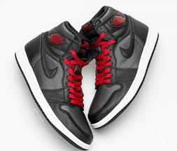 2020 Nike Air Jordan 1 Retro High OG Black Satin Red  555088