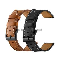 20mm 22mm Classic Genuine Leather Watch Band Strap Quick Rel