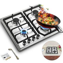 4 Burner Stove Gas Propane Range Tempered Ignition Camping O