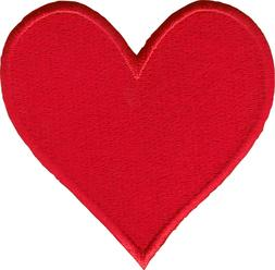22055 Solid Red Heart Sew Iron on Patch Badge Love Cute Vale