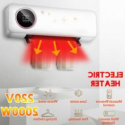 220V Electric Ceramic Heater Fan Quiet Wall Mounted Air Warm