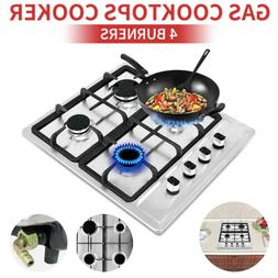 23.2 inch Stainless Steel 4 Burners Built-In Stoves NG Cookt