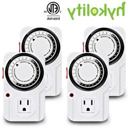24-Hour Indoor Plug-In outlet Timer Switch ON/OFF For Light