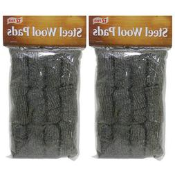 24 Pack Steel Wool Pads Kitchen Bathroom Wire Cleaning Ball