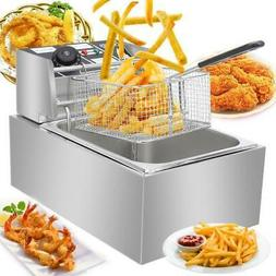 2500W 6L Commercial Electric Deep Fryer Restaurant Stainless
