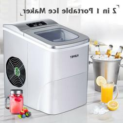 electric portable ice maker 26lbs day compact