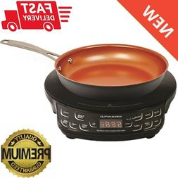 """2PC Precision Induction Cooktop with 9"""" Nonstick Frypan Set"""