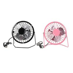 2pcs 4 inch Mini Desk Cooling Fan Desk Table USB Rechargeabl