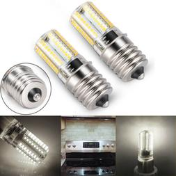 2PCS E17 LED Bulb Microwave Oven Light Dimmable 4W Natural W