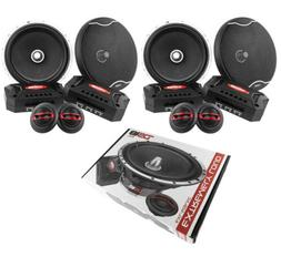 "2x DS18 EXL 6.5"" 2-Way 400W Component Speaker System Car Aud"