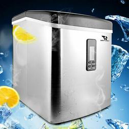 3.2L Stainless Steel Countertop Ice Maker Compact Cube IceMa