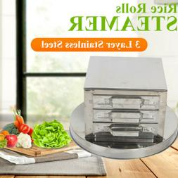 3-layer steamer drawers food steaming cooking baking rice no