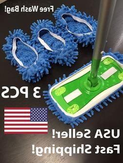 3 PCS Swiffer Sweeper Compatible Pads MICROFIBER Cover REFIL