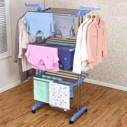3 Tier Folding Clothes Airer Laundry Dryer Rack In/Outdoor D