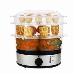 3 Tiers Electric Food Steamer Steam Cooker Low-Fat Dishes Ho