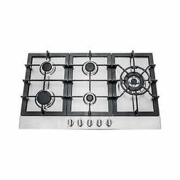 Cosmo 30-inch Stainless Steel Gas Cooktop  Silver