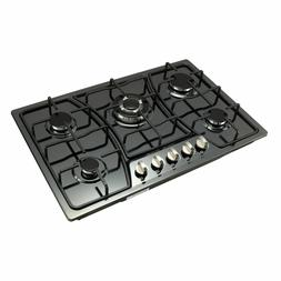 30 inch Titanium Stainless Steel 5 Burners Gas Cooktop W/ CS