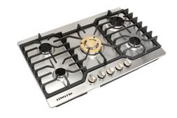 "METAWELL 30"" Stainless Steel With Gold Burner Built-in 5 Sto"