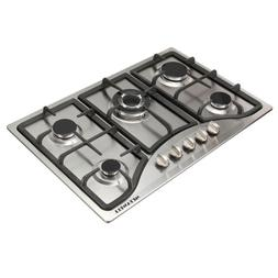 30in. Stainless Steel 5 Burner Built-in Stoves NG Gas Hob Co
