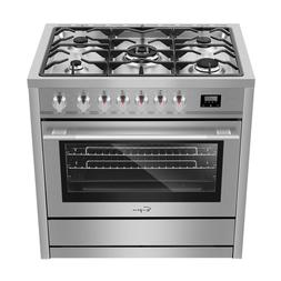 "Empava 36"" Single Oven Gas Range 5 Burners Cooktop 120V Stai"