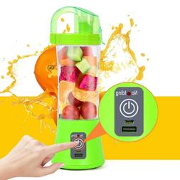 380ml 2 Blades Mini USB Portable Electric Fruit Juicer Mixer