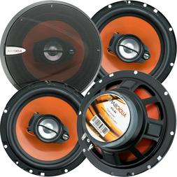 "4) Audiobank 6.5"" 600 Watt 3-Way Car Audio Stereo Coaxial Sp"
