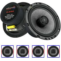 "4 Pack 6.5"" 2-Way Coaxial Car Audio Speakers 160W Max Grills"